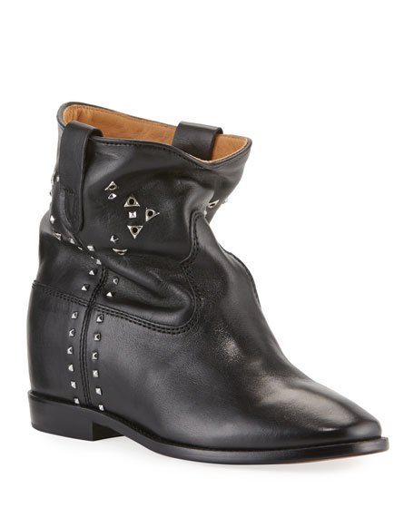Isabel Marant Cluster Studded Leather Booties