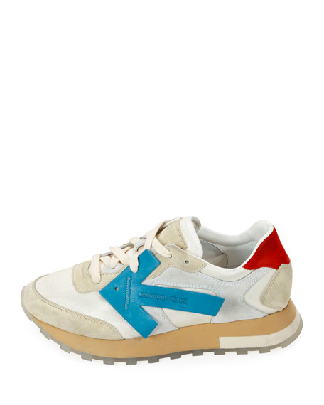 Off-White HG Runner Low-Top Suede Sneakers