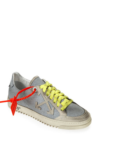 Arrow 2 Glittered Low-Top Distressed Sneakers