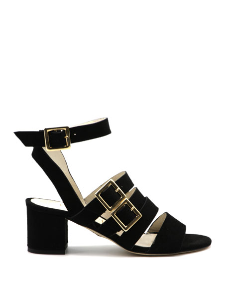 Bettye Muller Concept Chunky-Heel Buckle Sandals