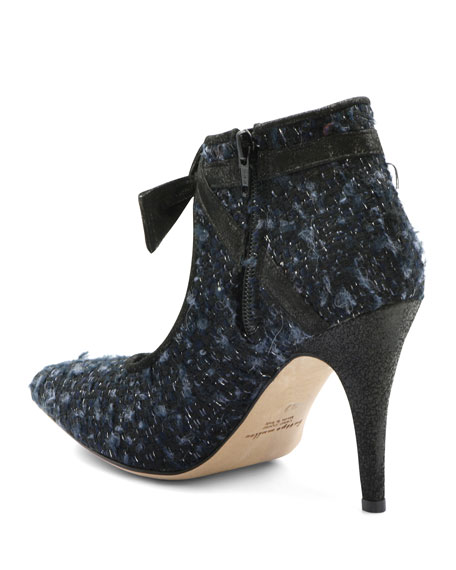 Bettye Muller Concept Boucle Fabric Bow Pumps