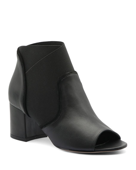 Bettye Muller Concept Napa Leather Stretch Booties