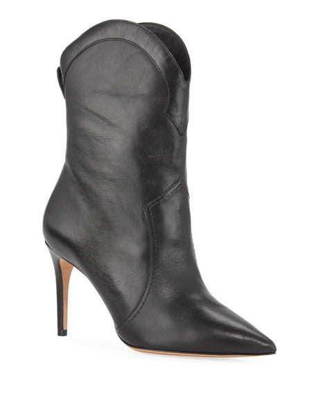 Alexandre Birman Boots ESTHER LEATHER POINTED BOOTS