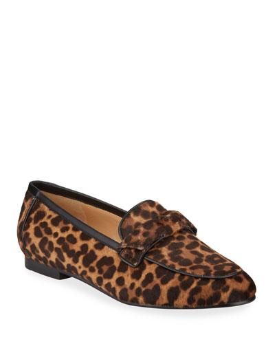 Becky Cheetah-Print Fur Loafers