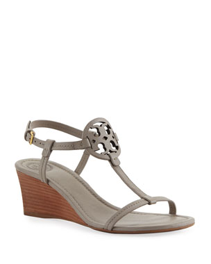 b3bbd740556d Tory Burch Miller Medallion Wedge Sandals