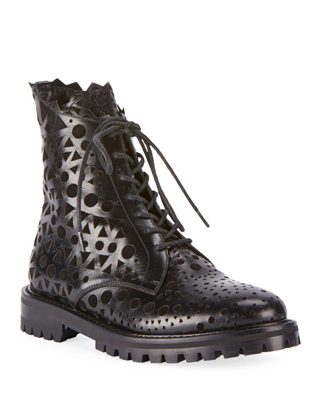 ALAIA Laser-Cut Leather Booties