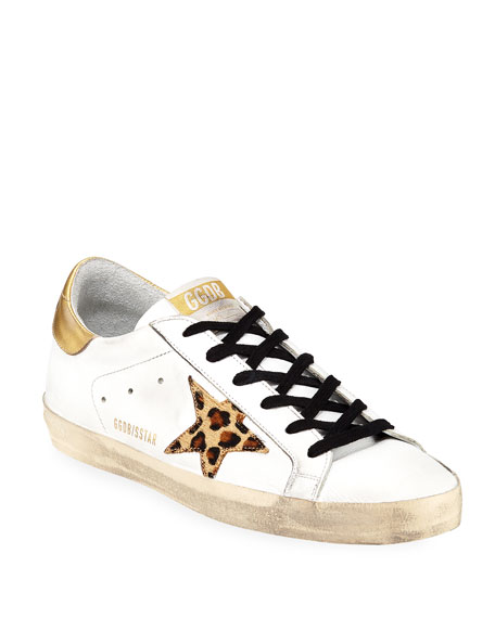 Golden Goose Superstar Leopard-Star Sneakers