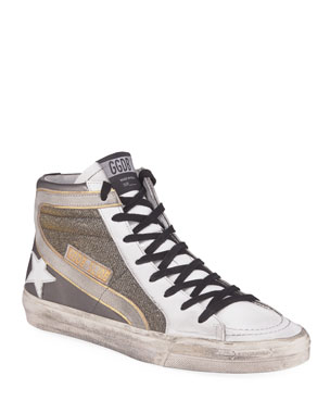 3c5c69eb0c5b Golden Goose Metallic Slide High-Top Sneakers