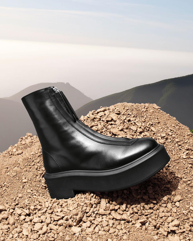 THE ROW Zipped Combat Boots | Neiman Marcus