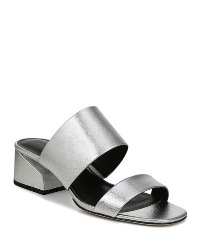 Philipa Metallic Slide Sandals