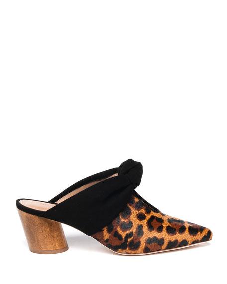 Bernardo Finley Leopard-Print Slide Mules
