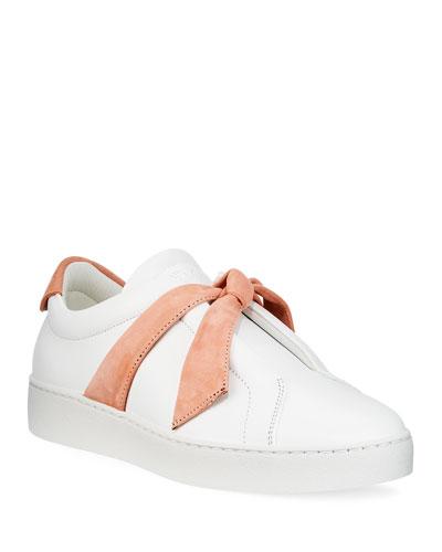 Clarita Two-Tone Sneakers  White/Pink