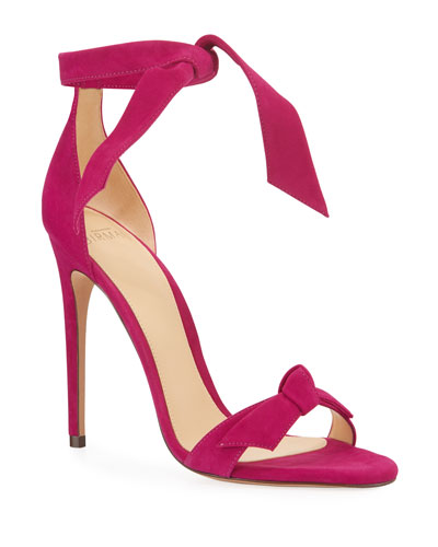 Clarita Knotted Suede Sandals