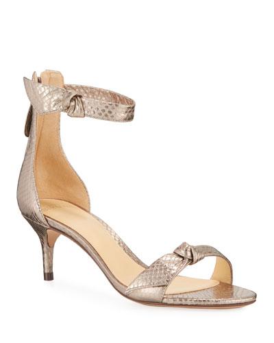 50 MM Clarita Snakeskin Sandals