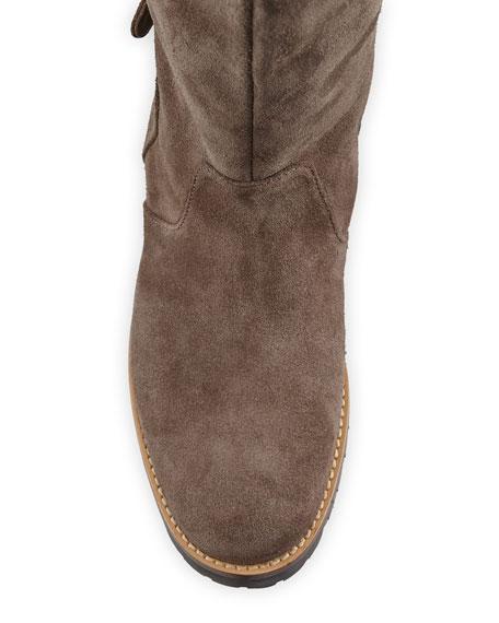 Manolo Blahnik Baffin Suede Riding Boots