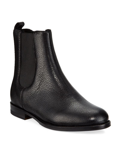 Chelsea Leather Gored Booties