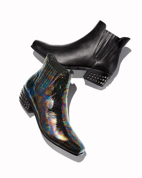 Donald J Pliner Millan Studded-Heel Chelsea Booties