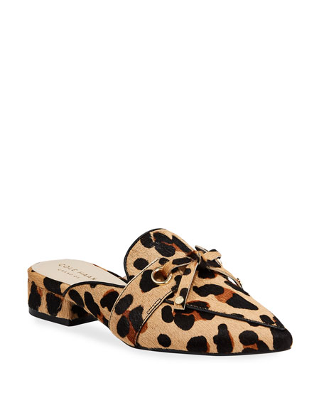 Cole Haan Emily Grand Leopard Mules
