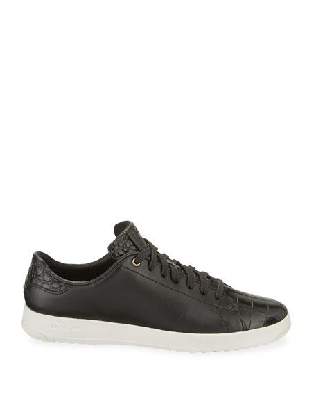 Cole Haan Grandpro Croc-Embossed Tennis Sneakers