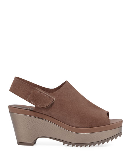 Pedro Garcia Felipa Suede Wedge Sandals