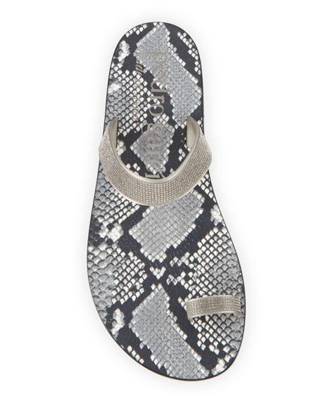 Pedro Garcia Zarina Crystal Flat Sandals