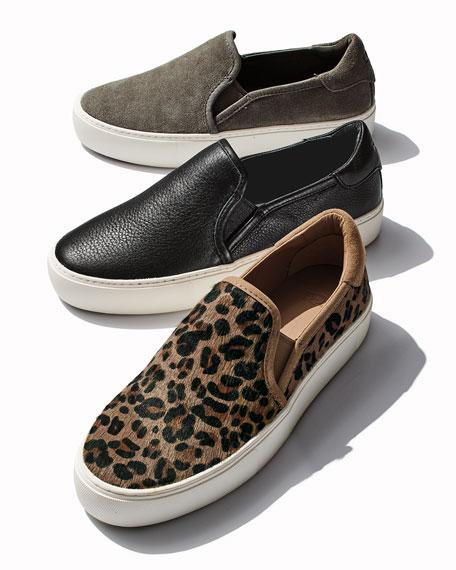 UGG Jass Suede Platform Sneakers, Black