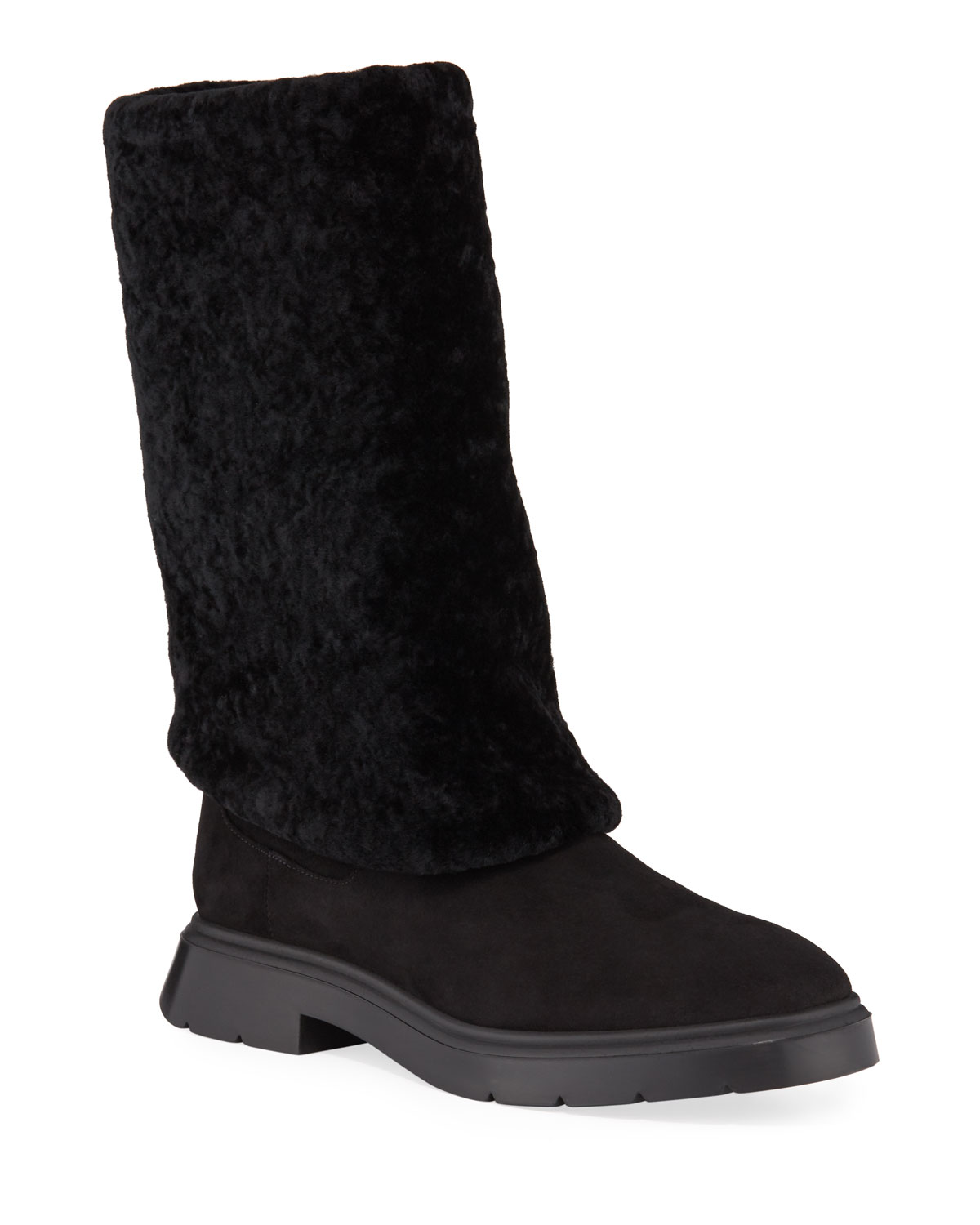 Luiza Chill Shearling Booties by Stuart Weitzman