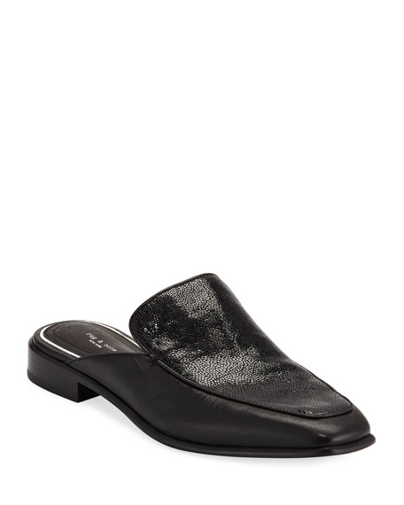 Aslen Mixed Leather Loafer Mules by Rag & Bone