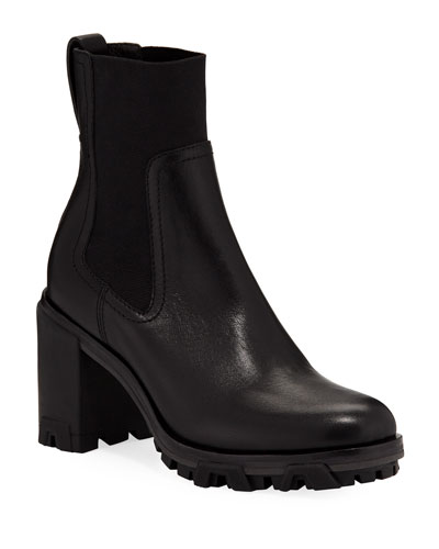 Shiloh High Gored Booties  Black