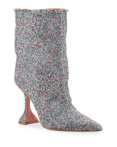Mia Fluffy Glitter Booties