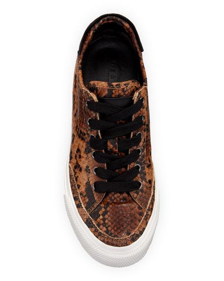 Rag & Bone Army Snake-Print Low-Top Sneakers