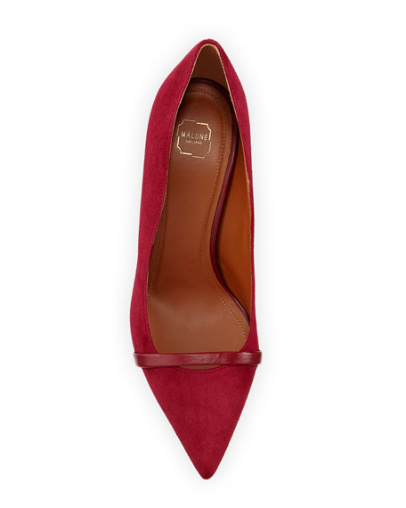 Malone Souliers Maybelle 70mm Scalloped Suede Pumps