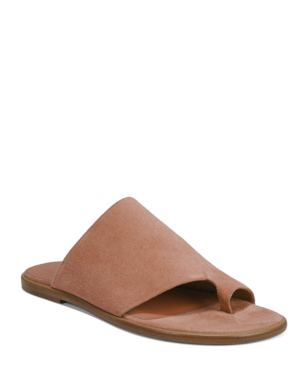 Edris Flat Sport Suede Slide Sandals by Vince