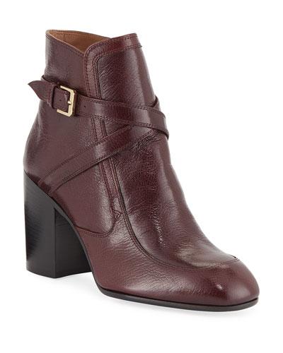 Tonia Crisscross Leather Booties