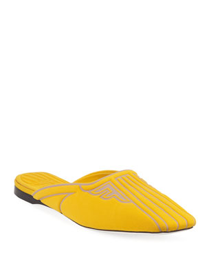 f334fe4cae2bf Fendi Freedom Fabric Slide Mules