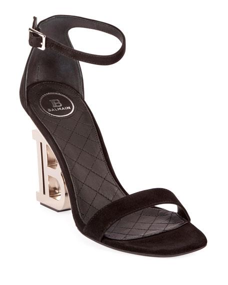 Balmain Naomi PB-Heel Sandals