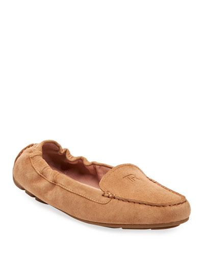 Kristine Suede Stretch Loafers