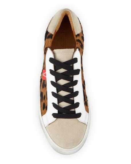 Veronica Beard Sami Leopard Platform Sneakers