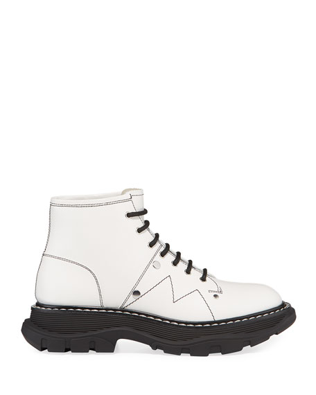 Image 2 of 4: Alexander McQueen Patent Leather Lace-Up Boots