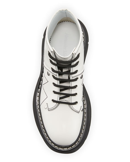 Image 3 of 4: Alexander McQueen Patent Leather Lace-Up Boots