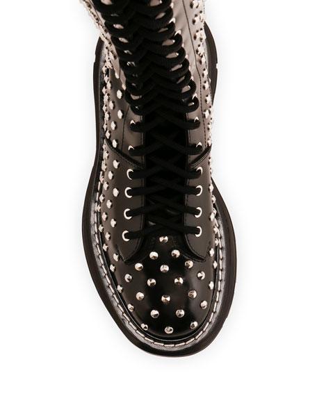 Alexander McQueen Spike Studded Knee Boots