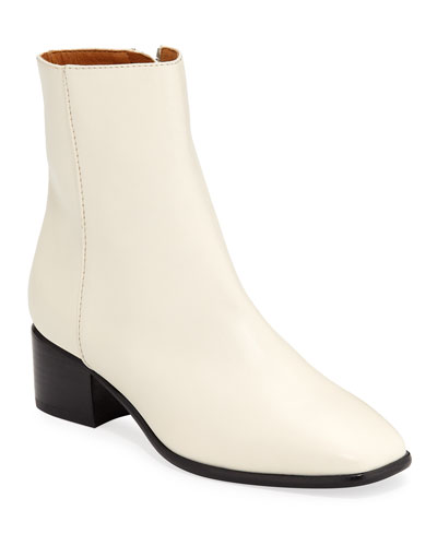 Aslen Smooth Leather Mid Boots