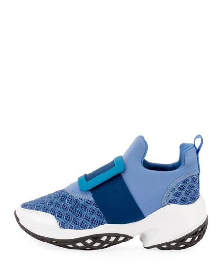 Roger Vivier Viv' Run Stretch Buckle Sneakers