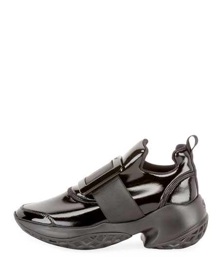 Roger Vivier Viv' Run Lacquered Buckle Sneakers