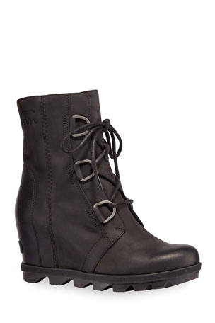 Sorel Joan Wedge Waterproof Leather Booties