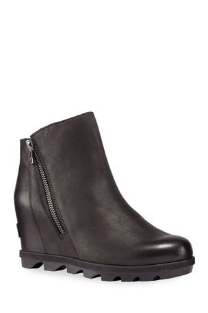 Sorel Joan of Arctic Wedge II Waterproof Leather Zip Boots
