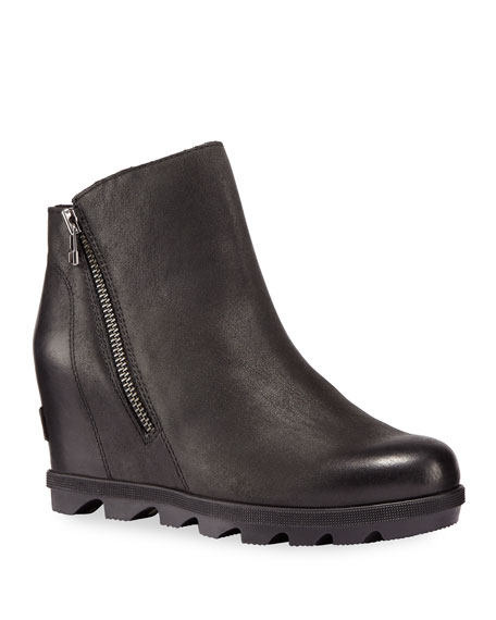 Image 1 of 3: Sorel Joan of Arctic Wedge II Waterproof Leather Zip Boots