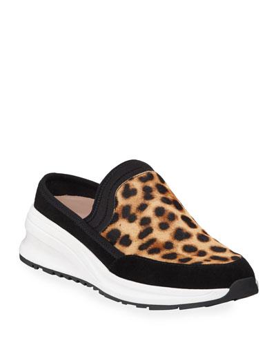 Zetta Leopard Slip-On Mule Sneakers