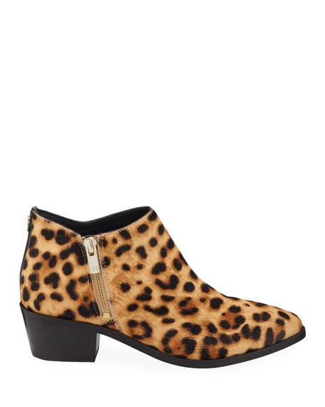 Taryn Rose Sara Leopard-Print Ankle Booties