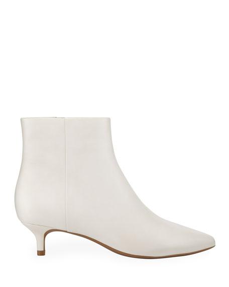 Taryn Rose Nelli Kitten Heel Leather Booties